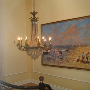 Exceptional Chandelier  2 - pre WW II - Installed