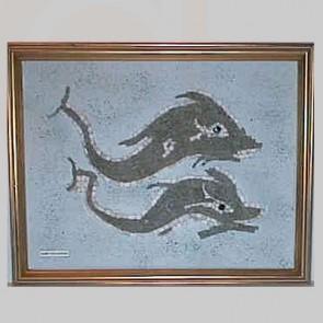 Mosaic Art Dolphins