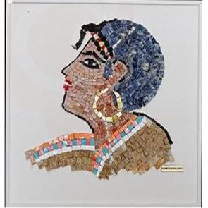 Greek Ancient Woman Mosaic