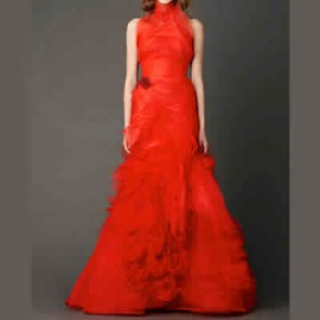 110413 - Vera Wang Wedding Dress -    Size 8 - Red