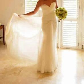 111312   - Vera Wang Wedding Dress -  Size 10 - Ivory
