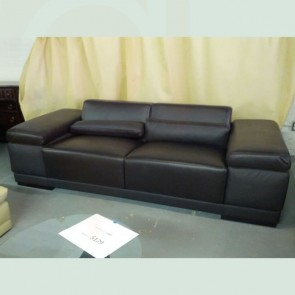 Loveseat black top grain leather