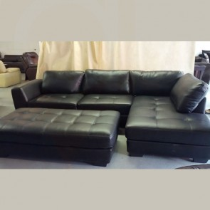 Black L Shape Sectional Back / Side Piece  / Ottoman Sectional Sofa