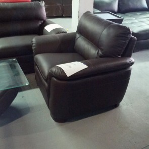 Brown Bonded Leather Single Chair