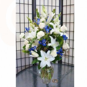 Beautiful in Blue Flower Bouquet