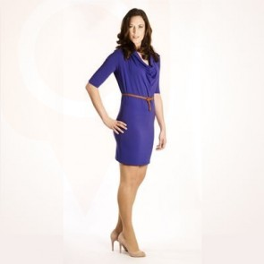 Deep Draped Tunic Dress #458