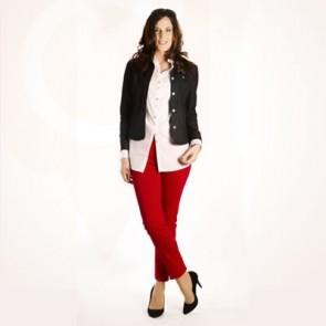 Cropped Skinny Jeans #699C Poplin Shirt #100