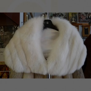 White Fox Fur Stole