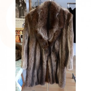 Men Full Length Fur Coat Raccoon
