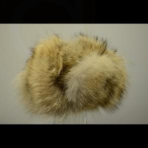 White Raccoon Fur Russian Hat