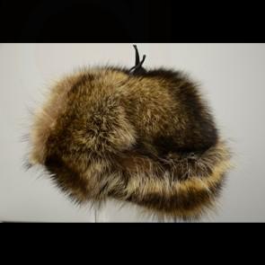 Raccoon Fur Russian Hat