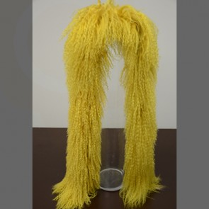 Yellow Mongolian Lamb Fur Scarf