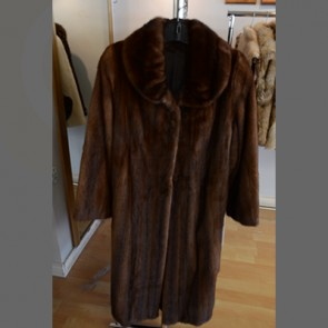 Mink Natural Colour Fur Extra Long Coat