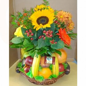 Sunkissed Fruit and Flower Basket