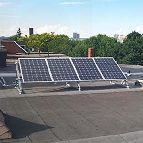 Solar panel installation -  flat roof