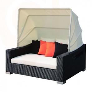 Patio Furniture Lounging - King Day Bed with Canopy