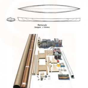 Barracuda Cedar Strip Canoe Kit  17' 4""
