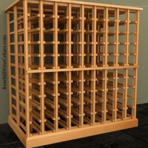 Wood Wine Rack Double Deep  Kit