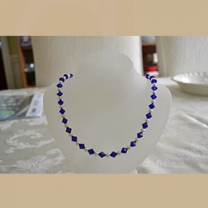 Navy Blue and White Pearl Set - Fashion Jewellery