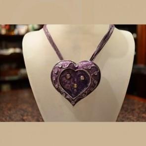 Purple Enamel Heart - Fashion Jewellery Pedendants
