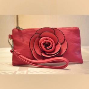 Fantastic Flower – Envelope Style Pink Bag - Fashion Purses