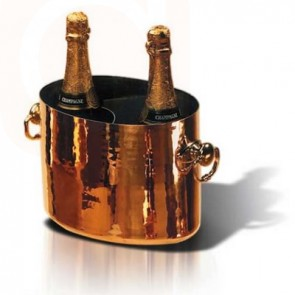 Copper Oval Champagne Bucket - Wine Accessories
